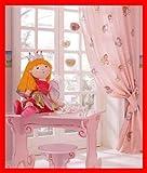BERONAGE Prinzessin Lillifee Einhorn Vorhang - FERTIGDEKO OVP SCHLAUFENSCHAL SCHAL m. SCHLAUFENBAND