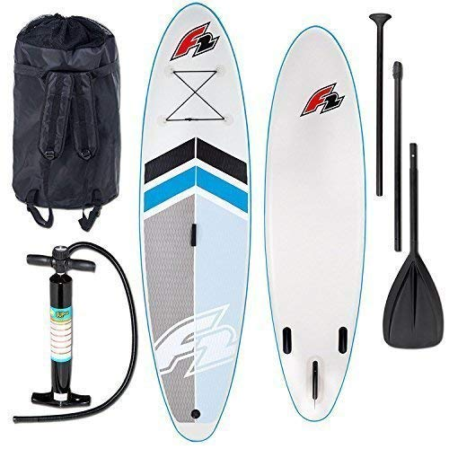 F2 Boardsports F2 TEAM aufblasbar SUP Stand Up Paddle Brett - iSUP Paddleboard mit Kajak Sitz, Paddel, und Reparatursatz Zubehör - 10.5