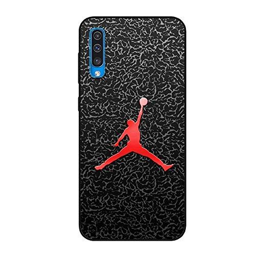 Aksuo for Samsung Galaxy A50 Schwarz Hülle Silikon, TPU Silikonhülle Handyhülle Kratzfest Stylisch Muster Design Robust Leicht Case - Basketball Spielen