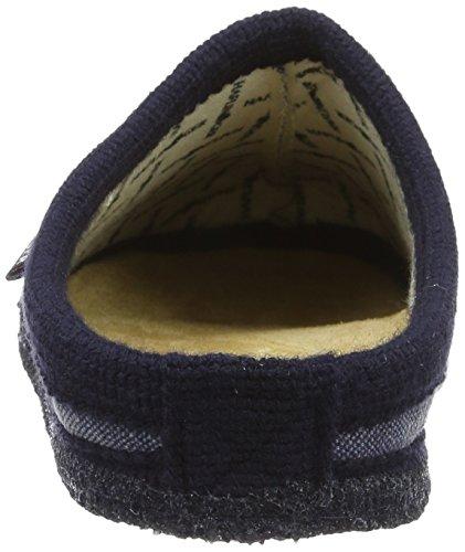 Haflinger Unisex-Erwachsene Kreta Pantoffeln Blau (Ocean)