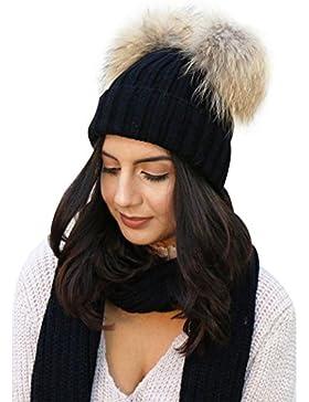 mioim Mutter & Neugeborenes Baby Mütze Strickmütz Winter Warm Hüte Beanie für Baby Mädchen Jungen und Damen mit...