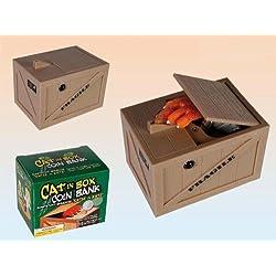 "Spardose - "" Katze in der Kiste "" "" Cat in the Box "" ca. 11 x 8 x 7 cm"
