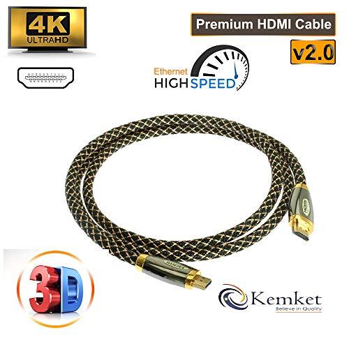 HDMI An HDMI Gold plattiert Steckverbinder hoher Geschwindigkeit Gold Premiumqualität unterstützt alle HD bereit Geräte und Gadgets in 1,5 m, 2 m, 3 m, 5 m & 10 m männlich An männlich-HDMI-Kabel
