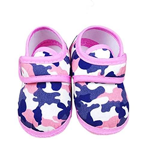 ZJENE Newborn Camouflage Girl Boy Soft Sole Crib Toddler Shoes Canvas First Walker Sneakers (0~3 Month,