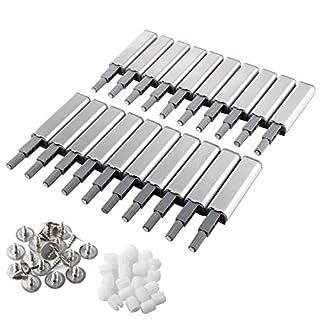 Anladia 20er Silber Druckschnapper Magnetschnapper Push to Open Türöffner mit magnetischer Zuhaltung Türschnapper