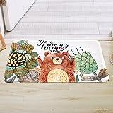 HAPPY-CARPET Teppichmatten, Fußmatten, niedliche Prinzessin für Kinder, Eingangstür, Eingangsmatte, Badmatte für Küche, 50 × 80 cm (19,6 × 31,4 Zoll), Weiß/C