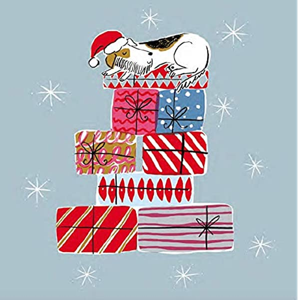 Charity Christmas Cards 2020 Guarding The Presents 8 Large Christmas Cards For Charity 60p In Support Of The British Heart Foundation Size 16 X 16 Cm Standard Postage Amazon Co Uk Office Products