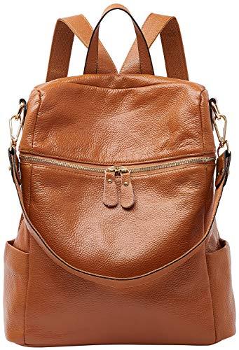 BOYATU Damen Rucksack Schultertaschen Leder Schultaschen für junge Damen Schulrucksack Casual Daypack Reiserucksack (Echtes Sling-rucksack Leder Hobo)