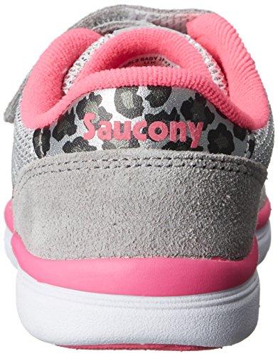 SAUCONY - Graue Sportschuhe, aus Wildleder und Synthetik, kind, Mädchen, baby Grigio