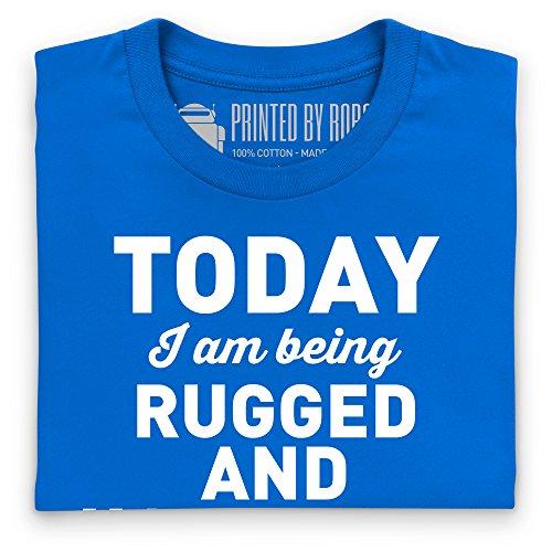 Rugged And Handsome T-shirt, Uomo Blu royal