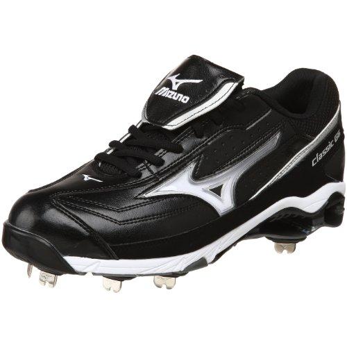 Mizuno Men's 9-Spike Classic G6 Low Switch Baseball Cleat,Black/White,14 M US