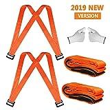 Correas para levantar y mover, sistema de movimiento para 2 personas con almohadilla de gomaespuma de 13 pies, mueve objetos con peso de hasta 800Lbs