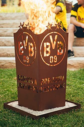 feuerfa  Borussia Dortmund BVB Feuerschale/Feuertonne / Feuerkorb ** Rost ** BVB-001
