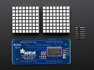 16x8 1.2 LED Matrix + Backpack - Ultra Bright Square Amber LEDs