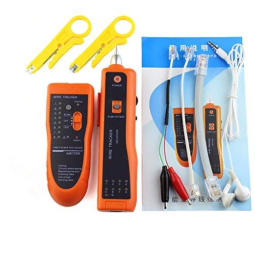 Preisvergleich Produktbild DAXGD Telefon Draht Tracker Tracer Toner Ethernet LAN Netzwerkkabel Tester Detektor Line Finder für UTP STP RJ45 RJ11