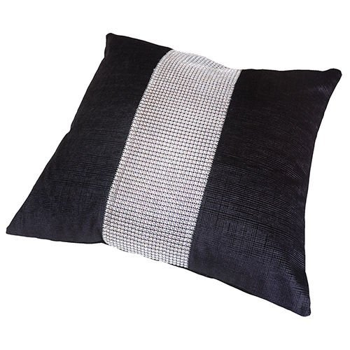 Panache - Housse de coussin Eclat - strass - 43 x 43 cm - noir