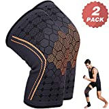 KEAFOLS Knee Support For Men Women, Knee Brace Sleeves, Premium Chinlon Diene Elastic