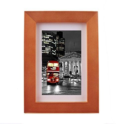 Breite Molding (DealMux 6 x 8 Kaffee-Farbe Foto-Bilderrahmen, gebildet Bilder anzuzeigen 4 x 6 mit Mat oder 6 x 8 Ohne Matte, Holz Breite Molding)