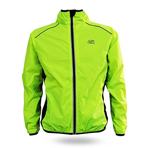 Radfahren De France Tour (Unisex Tour de France Radjacke Jersey-Fahrrad-Langarm Wind Sportwear Mantel im Freien)