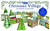 Advent Calendar - 3D Christmas Village - Easy to Assemble 24 Piece Village to Hide Treats in. by Caltime