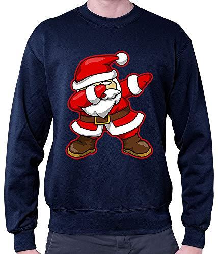 HARIZ Herren Pullover Dab Weihnachtsmann Nikolaus Weihnachten Dab Dabbing Trend Halloween Inkl. Geschenk Karte Deep Navy Blau M (Karten Lustige Halloween)
