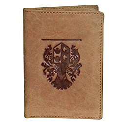 Style98 Tan Pure Leather Unisex Slim Wallet||Small Wallet