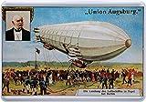 Union Augsburg Luftschiff Tegel Berlin Blechschild Postkarte Blechkarte PKM 170