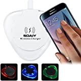 Wireless Charger, SOAIY� Qi Cell Phones Charging Pad Station with Smart Light Indicator Wireless Wall Charger for Samsung Galaxy S6,s6 Edge Note 5,google Nexus 4, 5, 6, 7 and All Qi-enabled Devices