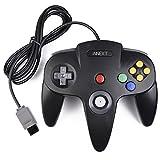 iNNEXT Retro 64-Bit N64 Controller,Kabelgebundener Gamepad Controller Joystick für N64 Konsole N 64 System, Schwarz -