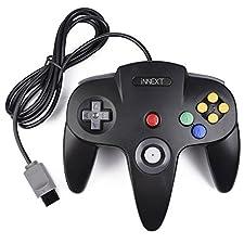 iNNEXT Retro 64-Bit N64 Controller,Kabelgebundener Gamepad Controller Joystick für N64 Konsole N 64 System, Schwarz