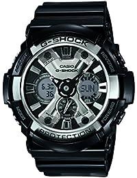 Casio - GA-200BW-1A - G-Shock - Montre Homme - Quartz Analogique - Digital - Cadran LCD - Bracelet Résine Noir