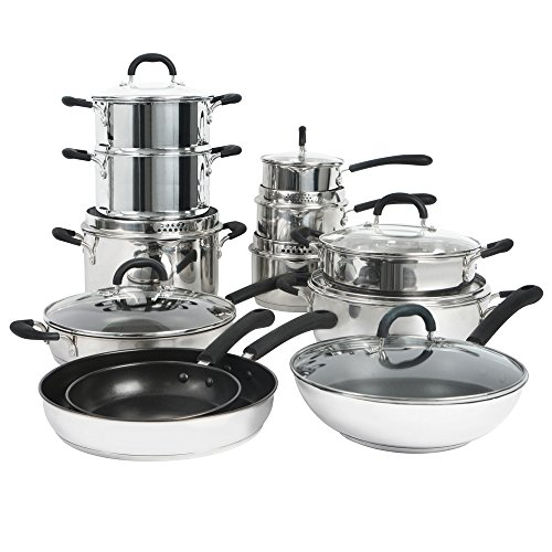 ProCook Gourmet Stainless Steel Induction Cookware Set 12 Piece