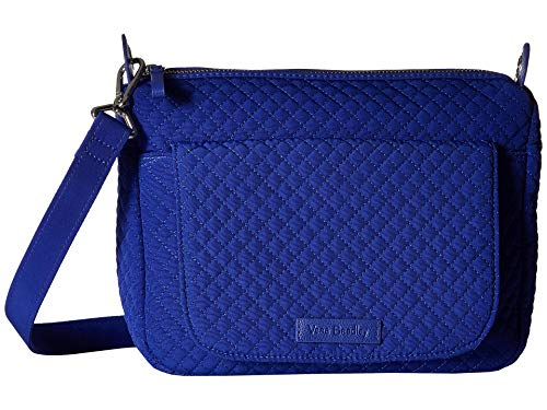 Vera Bradley Women's Carson Mini Shoulder Bag Gage Blue One Size - Bradley Leder Handtaschen Aus Vera