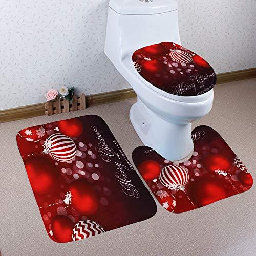 Carpet Set TAOtTAO Weihnachten 3pcs rutschfeste Badematte Badezimmer Küche Teppich Fußmatten Dekor (G)