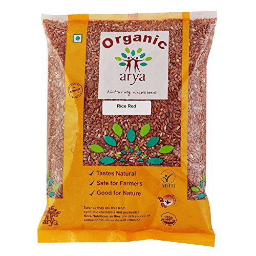 Arya Farm Certified Organic Chemicals and Pesticides Free and No Added Preservatives Red Rice, 2kg