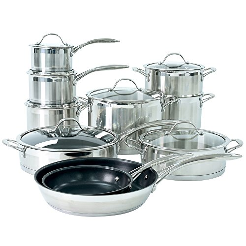 ProCook Professional Stainless Steel Induction Cookware Set 10 Piece