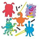 """Kratzbild-Magnete """"Monster"""" für Kinder zum individuellen Gestalten"""