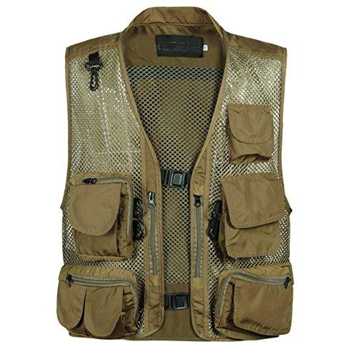 GITVIENAR Weste mit Multi-Tasche Outdoor Jacke Sportkleidung leichtgewicht und atmungaktiv
