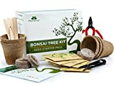 Bonsai Tree Kit Grow Your Own Bonsai Trees from Seeds - Gardening Gift Set - 5 Bonsai Tree Seeds Species - Complete Germination Starter Kit with Bonsai Tools