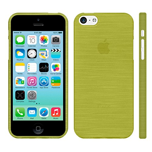 Silverback Custodia per Apple Iphone 5 C Case Cover Silicone Tpu Verde metallizzato