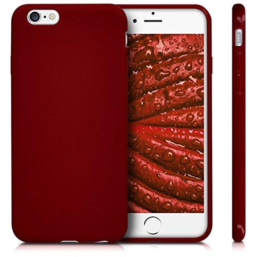 kwmobile Étui en TPU silicone élégant pour Apple iPhone 6 / 6S en bleu clair mat .rouge mat