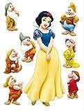 1art1 75255 Schneewittchen Und Die Sieben Zwerge - Walt Disney Wand-Tattoo Aufkleber Poster-Sticker 65 x 42 cm