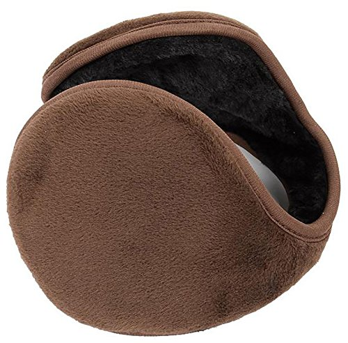 Kissing U Unisex Hiver Warm Wrap Around Earmuffs Super doux Peluche Couvert Oreillers Pure Color Oreiller Plus Chaud Café