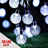 Usboo Outdoor Solar String Lights for Christmas Party Wedding Yard and Holiday Decorations
