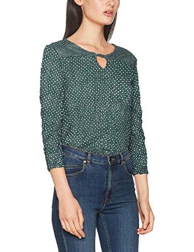 TOM TAILOR Damen Bluse Crincle Blouse Shirt, Grün (Deep Green Lake 7610), 44 (Herstellergröße: XXL) (Crinkle-bluse Shirt)