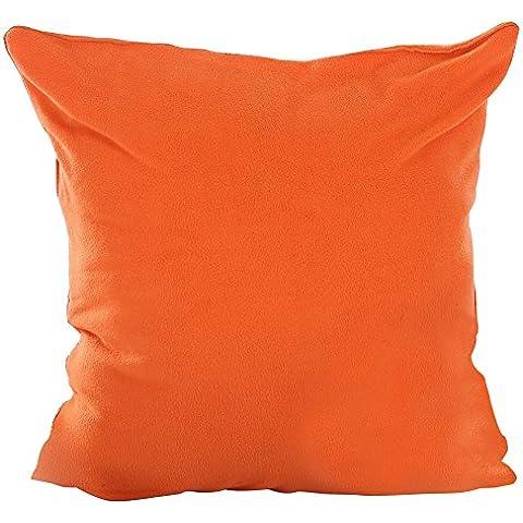 Deconovo Home Super morbido pile, Federa per cuscino, realizzata a mano, con zip invisibile 45,72 x 45,72 (18-Inch) x 18 cm