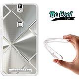 Becool® Fun - Funda Gel Flexible para Elephone P8000, Carcasa TPU fabricada con la mejor Silicona, protege y se adapta a la perfección a tu Smartphone y con nuestro exclusivo diseño. Metal brillante
