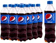 Pepsi, Carbonated Soft Drink, Plastic Bottle, 500ml x 12