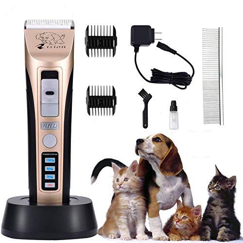 Tierhaarschneider, Geräuscharmer Wiederaufladbare Haustier Haarschneider Elektrische Hundeschermaschine Drahtlose Tierhaartrimmer Tierschermaschine