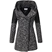 Peak Time Damen Übergangs-Jacke Woll-Mantel Trenchcoat V-1507